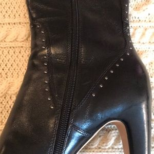 Cole Haan Shoes - Cole Haan Nike Air Black heeled riveted boots 8B